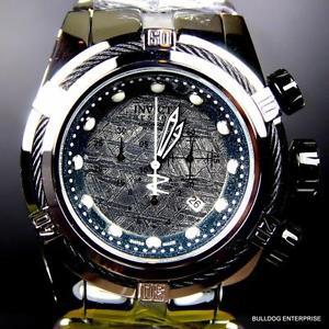 mens invicta reserve bolt zeus meteorite high polish steel chronograph watch
