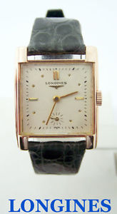 vintage solid 14k rose longines winding watch c1950s cal22l* exlnt* serviced