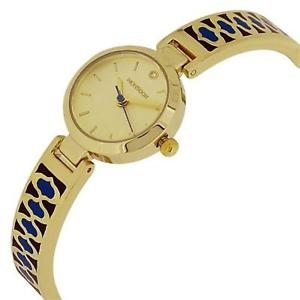 monsoon beautiful ladies goldtone blue design bracelet strap watch mo4040