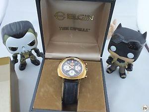 【送料無料】vintage elgin 60s chronograph valjoux 7736 watch panda cal 330 73643 814