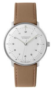 【送料無料】authorized dealer junghans 027350200 automatic max bil leather watch