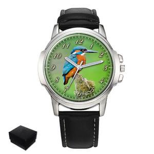 【送料無料】neues angebotkingfisher bird mens wrist watch engraving