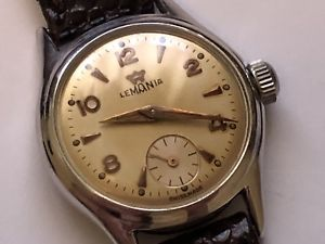 【送料無料】beautiful vintage lemania wristwatch in amazing condition