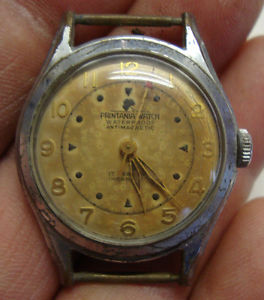 vintage gents stainless steel printania wristwatch