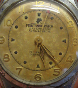 vintage gents stainless steel printania wristwatch