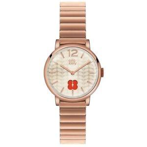 【送料無料】orla kiely frankie ladies rose gold plated bracelet watch ok4006oknp