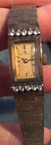 【送料無料】vintage ladies jeweled bucherer watch