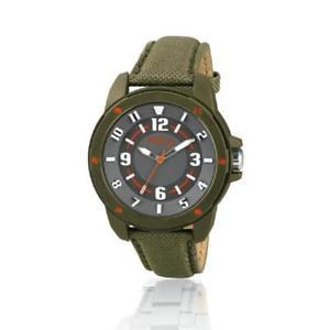 orologio uomo breil tribe scout ew0207 pelle tessuto verde grigio sub 50mt