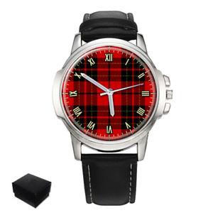 【送料無料】neues angebotbrodie scottish clan tartan gents mens wrist watch gift engraving