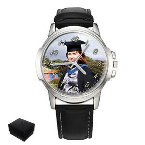 【送料無料】personalised graduation gents mens wrist watch your photo gift engraving xmas