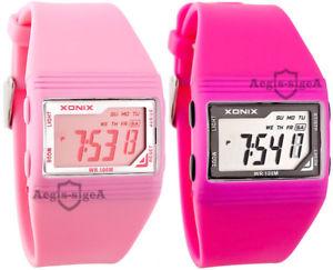 xonix  women's, quartz watch, digital, alarm, stopwatch, waterproof
