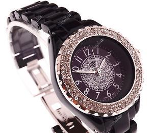 orologio da donna ramp;g time con strass al quarzo nero j12
