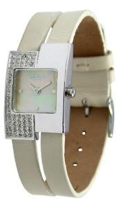 moog paris montre femme avec cadran blanc cass bracelet crme
