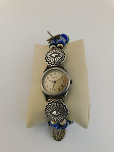 sterling glass charm wrist watch legacy signed ptg boat shells whale dragonfly