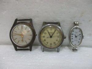 lot de 3 anciennes montres bracelets  roamer, rex, elves