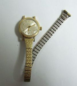 【送料無料】vintage ladies wittnauer geneve gold filled watch