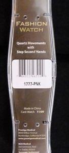 prestige medical scrub quartz watch pink cyber gel water resistant discontinued