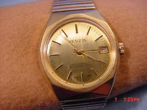 vintage pengiun wristwatch hong kong