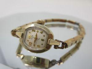 【送料無料】elgin 19 jewel ladies 10k gold filled wind up vintage watch *runs great*