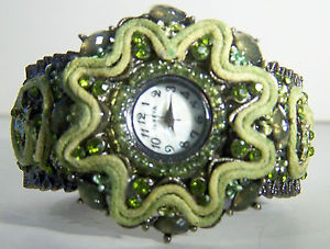 unique geneva boutique couture summer collection ladies hinged cuff watch