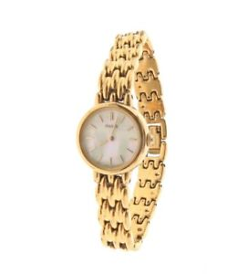 pulsar mother of pearl gold tone watch v4000890 625