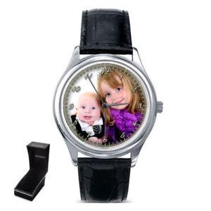 【送料無料】personalised custom ladies gents wrist watch your family photo gift christmas