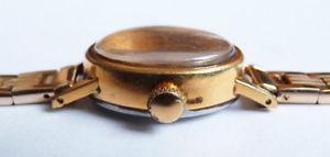 montre de femme semco plaqu or swiss suisse mcanique watch