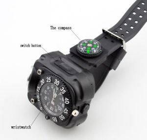 yupard survival tactical led watchcompassflashlightwristlight800lm5modes