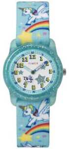 【送料無料】timex youth analog 28mm teal rainbow unicorn tw7c256004e watch
