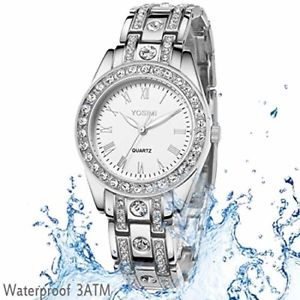 ladies wristwatch watch for woman  yosimi women watch silver stainless steel br