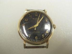 vintage bulova self winding automatic 10k rgp gold watch b8983