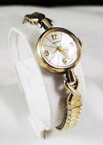 【送料無料】rare mid century 1960s benrus mid century modern delicate wrist watch runs