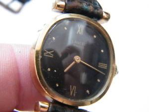 montre watch lancel paris mcanique 200322,boitier plaqu or,fonctionne,n843