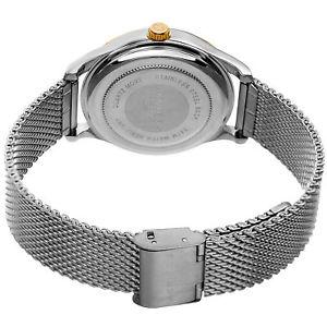 akribos xxiv ak973gns women's leather strapstainless steel bracelet watch set