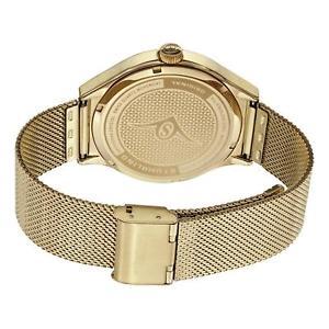 stuhrling eagle elite mens 42mm gold steel bracelet amp; case watch 184333371