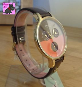 radley ry2428 ladies 'abbey' clove leather chronograph watch   rrp 150