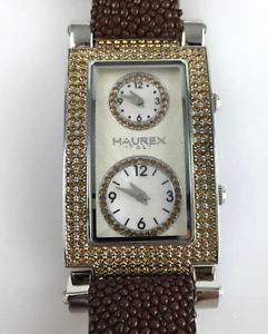 watch haurex italy swarovski orologio donna reffs325dsm quarzo pelle deplo nuov
