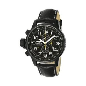 invicta  iforce 3332  leather chronograph  watch