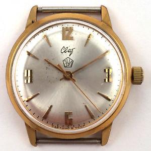 vintage soviet svet light windup watch gilt au20 raketa 60s *us seller* 1085