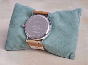 lambretta herrenuhr cesare 42mm cognac silber, leder braun, uhr, silver, watch