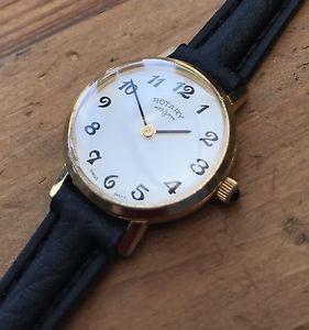 誠実 【送料無料】neues angebotvintage ladies rotary quartz gold plated wristwatch, great condition, マンツウオンラインショップ 7edfff37