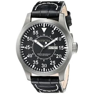 invicta  specialty 11200  leather  watch