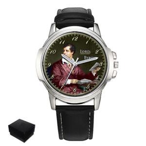 【送料無料】neues angebotlord byron poet mens wrist watch engraving