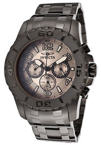mens invicta 15024 pro diver chronograph grey steel bracelet watch