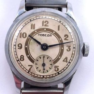 old rare soviet pobeda windup watch zim 4q1953, serviced *us seller* 790