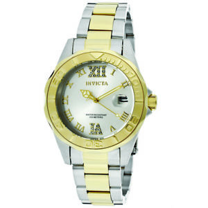 invicta womens pro diver 12852  twotone stainless steel  watch