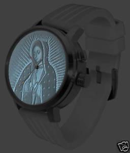 virgin mary lithophane watch 3d led jesus bible light bright white steel
