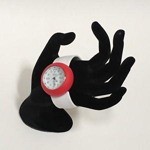 【送料無料】tko orlogi slap watch mix match red white heart christmas analog water resistant