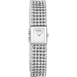 accurist ladies crystal set bracelet watch lb1504