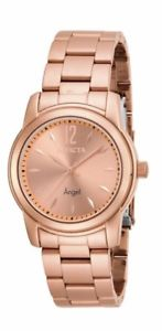 【送料無料】invicta 17421 womens angel rose gold plated steel bracelet watch